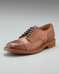 Brunello Cucinelli | Brown Cap-toe Lace-up for Men | Lyst