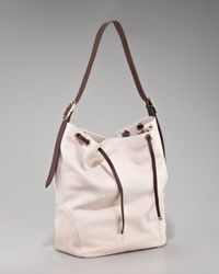 Brunello Cucinelli | Natural Washed Leather Drawstring Hobo | Lyst