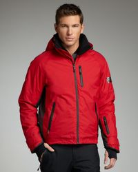 Burberry Sport | Hooded Snowboard Jacket, Union Red for Men | Lyst