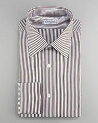 Charvet | Striped Dress Shirt, Brown for Men | Lyst