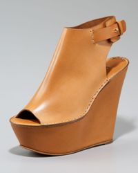 Chloé | Brown Ankle-wrap Platform Wedge | Lyst