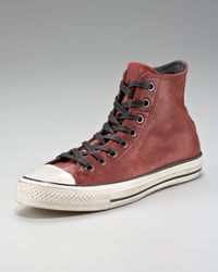 Converse Red Leather Hi-top for men