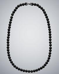 David Yurman | Black Onyx Spiritual Bead Necklace for Men | Lyst