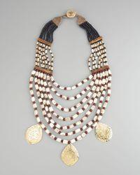 Devon Leigh | Multicolor Multistrand Drop Necklace | Lyst