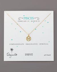 Dogeared - Metallic Pisces Zodiac Necklace - Lyst