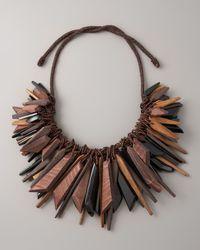 Donna Karan | Black Large Cluster Necklace | Lyst