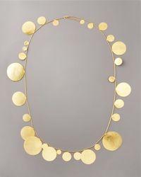 Herve Van Der Straeten | Metallic Long Disc Necklace | Lyst