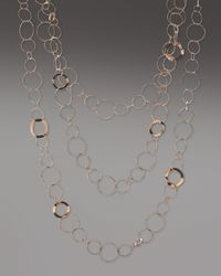 Ippolita | Pink Rose Long Threestrand Necklace | Lyst