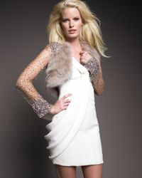 J. Mendel | Natural Long-sleeve Sequin Fur Bolero | Lyst