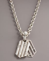 John Hardy | Metallic Bamboo Pendant Necklace for Men | Lyst