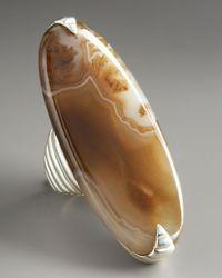 John Hardy - Brown Bedeg Agate Ring - Lyst