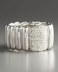 John Hardy | Metallic Bedeg Pave Diamond Band Ring Wide | Lyst