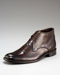 John Varvatos | Brown Wing-tip Dress Chukka for Men | Lyst