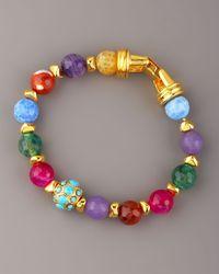 Jose & Maria Barrera | Multicolor Multi-stone Beaded Bracelet | Lyst