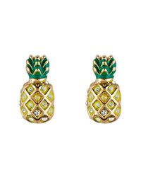 Juicy Couture | Metallic Gold Pineapple Earrings | Lyst