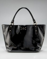 kate spade new york | Black Sophie Patent Tote | Lyst