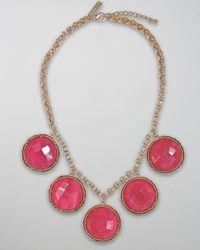 Kendra Scott | Natasha Necklace, Pink Agate | Lyst