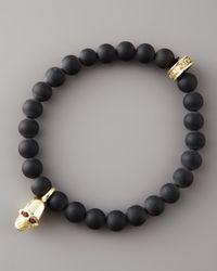 King Baby Studio | Black Onyx Skull Bracelet for Men | Lyst
