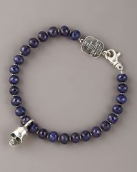 King Baby Studio | Blue 7mm Sapphire Bead Bracelet for Men | Lyst