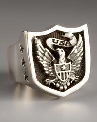 King Baby Studio | Black Eagle Shield Ring for Men | Lyst