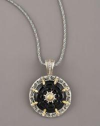 Konstantino | Black Iris Onyx Pendant | Lyst