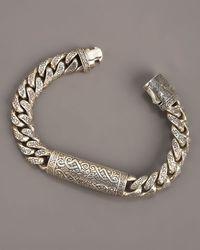 Konstantino | Metallic Engraved Paganini Link Bracelet for Men | Lyst