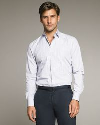 Lanvin | Blue Pleated Shirt for Men | Lyst