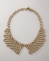 Lanvin | Brown Beaded-chain Collar Necklace | Lyst