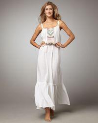Mara Hoffman - White Embroidered Maxi Dress - Lyst