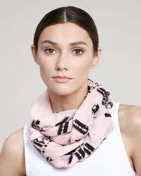 McQ | Razor Blade-print Scarf, Pink | Lyst