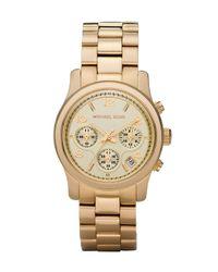 Michael Kors | Metallic Yellow Golden Midsized Chronograph Watch | Lyst
