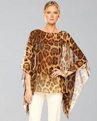 Michael Kors   Multicolor Leopard-print Chiffon Tunic   Lyst