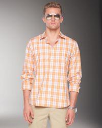 Michael Kors | Orange Flanders Plaid Shirt for Men | Lyst