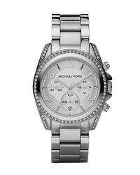 Michael Kors | Metallic Silver-color Runway Watch With Glitz | Lyst