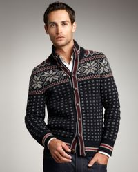 Moncler | Blue Snowflake Cardigan for Men | Lyst