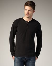 Bliss and Mischief | Black Owens Raglan Henley for Men | Lyst