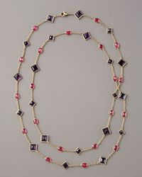 Paolo Costagli | Multicolor Amethyst & Ruby By-the-yard Necklace | Lyst