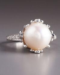 Penny Preville | Metallic Pearl Diamond Ring | Lyst