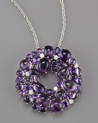Roberto Coin | Metallic Amethyst Diamond Necklace | Lyst