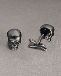 Robin Rotenier | Black Skull Cuff Links for Men | Lyst