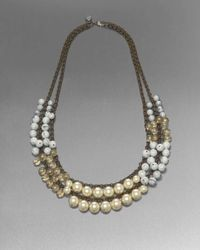 St. John | Metallic Double-strand Bead Necklace | Lyst