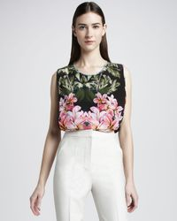 Stella McCartney | Multicolor Sleeveless Tropical-print Blouse | Lyst