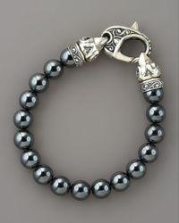 Stephen Webster - Blue 10mm Hematite Bead Bracelet for Men - Lyst