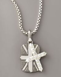 Stephen Webster | Metallic Cross Union Jack Necklace for Men | Lyst