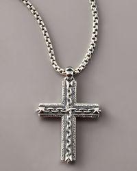 Stephen Webster | Metallic Oxidized Cross Necklace for Men | Lyst