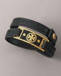 Tory Burch | Black Logo Wrap Bracelet | Lyst
