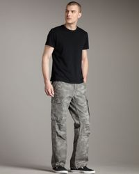 True Religion | Gray Anthony Camo Cargo Pants for Men | Lyst