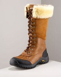 UGG | Brown Adirondack Lugged Boot | Lyst