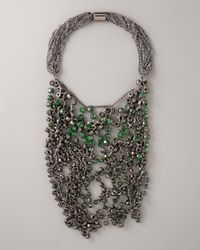 Vera Wang | Wrapped Rhinestone Necklace, Green | Lyst