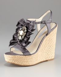 Vera Wang Lavender - Gray Paige Charcoal Wedge Platform - Lyst